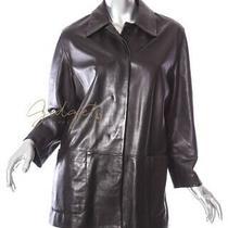 Bally Italy Size 6 Butter-Soft Black Leather Jacket Coat Photo