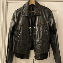 Bally Ladies Leather Jacket Rrp 799 Photo