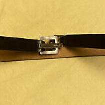 Bally Made in Italy Women's Black Leather Belt Size 30 Photo