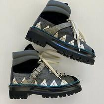 Bally Manilo Graphic Trim Leather Hiking Boots  Size 39/us8.5  New Rrp1050 Photo