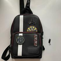 Bally Men's Leather Sling Bag Backpack Photo