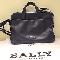 Bally - Mens Leather Computer Case (Blue) Photo