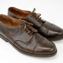 Bally Norfolk Mens Cap Toe Derby Shoes Sz 9 Brown Leather Dress Shoes Photo