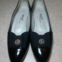 Bally of Switzerland Emily Womens Vintage Black Leather Low Pumps Shoes Sz 9 N Photo
