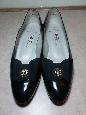 Bally Of Switzerland Emily Women's Vintage Black Leather Low Pumps Shoes Sz 9 N Photo
