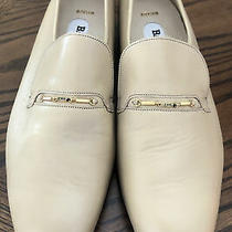 Bally of Switzerland Loafer Slip on Beige  Leather Dress Shoes - Men's Us 8 1/2m Photo