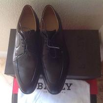 Bally of Switzerland Mens Shoes Black Leather Solid  Photo