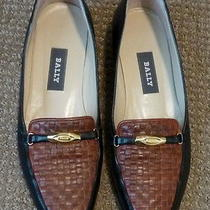 Bally of Switzerland Women's Low Heel Flats 8n Brown and Black Made in Italy  Photo