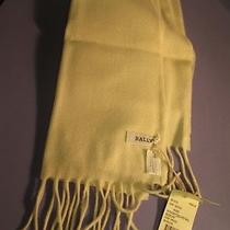 Bally Off White 100% Cashmere Scarf - New With Tags Photo