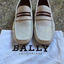 Bally Perforated Leather Drivers Loafers 10.5 Perfect Like New Photo