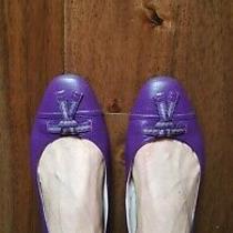 Bally Purple Ballerina Flats Uk 7.5 100% Leather Photo