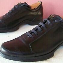 Bally Rapid Mens 10 E Black Soft Leather 6-Eyelet Lace-Up Walking Shoes Xlnt Photo