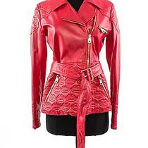 Bally Red Leather Jacket Photo