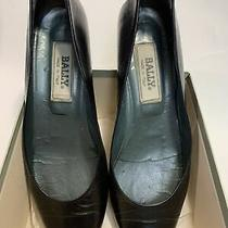 Ballys Leather Low Heel Pump Black 7.5n  With Box Ballys Low Heel Photo