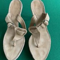 Bally Salbris Tan  Suede Leather Thing  Sandals Size 6.5 M Made in Italy Photo