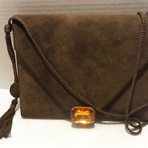 Bally Shoulder Bag/clutch Unique Brn Suede Vintage Very  Rare Photo