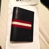 Bally Striped Foldover Wallet Brand New in Box  Photo