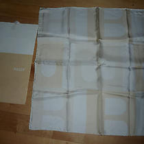 Bally Sweden 100% Silk Pocket Square Scarf Logo  Photo
