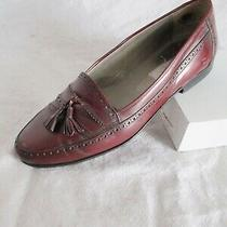 Bally Switzerland Authentic 529 Cordovan Leather Dress Shoe Tassel Loafers 10d Photo