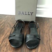 Bally Switzerland Black Lamb Nappa Plain Sandals Photo