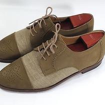 Bally Switzerland Leather/canvas Cap Toe Dress Shoes - Size 8.5 - Unique Rare  Photo