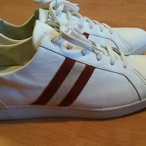 Bally Switzerland White  Leather  Low Top Sneakers 10 D Photo