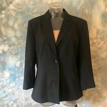Bally Sz 42 Black Wool One Button Women's Blazer Italy Photo