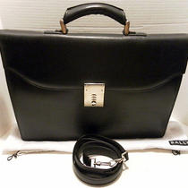 Bally Textured Leather Briefcase/computer  Bag  Nwt 1250 Photo