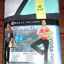 Bally Total Fitness 2 Yoga Pants Tummy Control Medium 8-10  Free Shipping Nwt's Photo