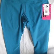 Bally Total Fitness Slim Fit Performance Capri Leggings  Blue Small Photo