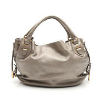 Bally Tote Bag Leather Gray Photo