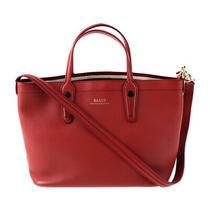 Bally Tote Bag  Leather Red Series 2way Handbag Ladies Photo