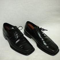 Bally Us Sz 8 M Eur Sz 7 Mens Black Leather Dress Shoes Oxfords Nice With Trees Photo