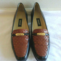 Bally Vanessa 8 N Black Brown Glove Leather Flats Loafers Italy Photo