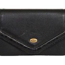 Bally Vintage Clutch Shoulder Bag Leather Black Photo
