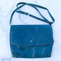 Bally Vintage Italy Convertible Flap Front Leather Clutch Shoulder Bag Green Photo