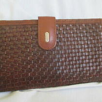 Bally Vintage Woven Leather Organizer Wallet Photo