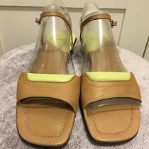 Bally Vtg Brown/lime Leather Made in Italy Sandals Sz 39.5 Usa Runs Narrow. Photo