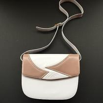 Bally White and Tan Leather Purse  Photo