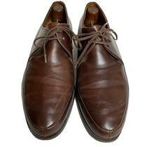 Bally Wing Mens Dress Shoes Sz 8 Brown Leather Split Toe Switzerland Photo