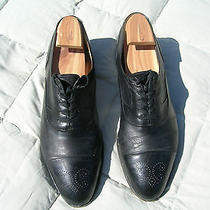 Bally Wing-Tip Oxfords 10.5m  Black   Vintage Gently Worn  Italy Photo
