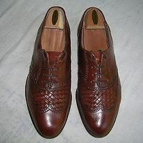 Bally Wing-Tip Oxfords 10.5m  Brown   Vintage Gently Worn  Italy Photo