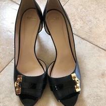 Bally Women Leather Open Toe Pump Heels Sz 40 1/2 M / 10 M Euc Photo