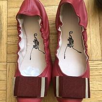 Bally Women Patent Leather Dark Pink Bow Flats Size 35 Photo