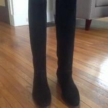 Bally Women's Black Suede Riding Boot Made in Italy High End Luxury Size 39.5 Photo