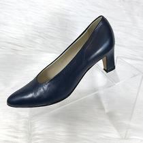 Bally Womens Pumps Blue Leather Size 7.5 N Photo