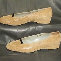 Bally Women's Tan Nubuck Leather Slip on Closed Toe Pump Shoes Size Us 7 1/2 C Photo