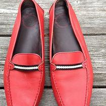 Bally Womens Driving Shoe Loafer Orange  Classic Bally Size 41 High End 10 11 Photo