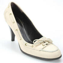 Bally Womens Leather Laced Toe Bow 3.5