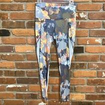 Bally Womens Leggings Total Fitness Floral Striped Size Small Workout Yoga Photo